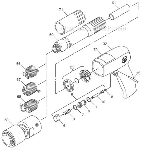 Chicago Pneumatic Cp715 Parts List And Diagram T024381