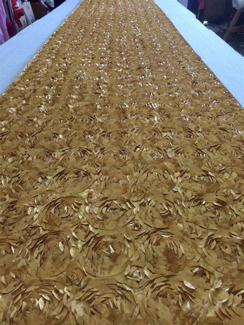 Wedding Aisle Runner Gold by Custom Made Gold Tafetta New Rosette Petal Design Aisle