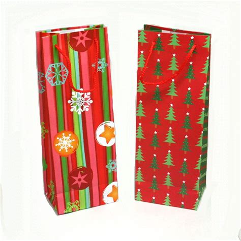 christmas wine bottle gift bags