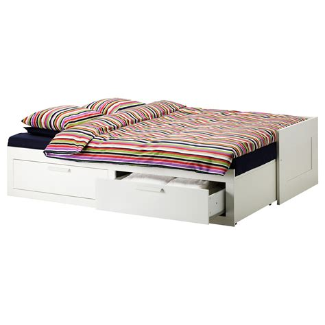 ikea bed frame with drawers brimnes day bed frame with 2 drawers white 80x200 cm ikea