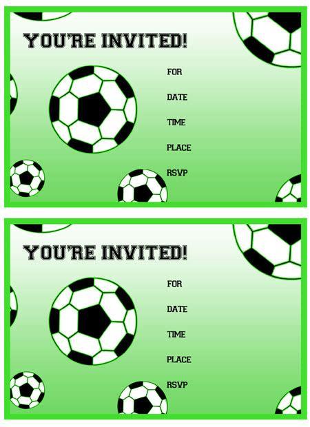 free printable soccer birthday invitations printable treats