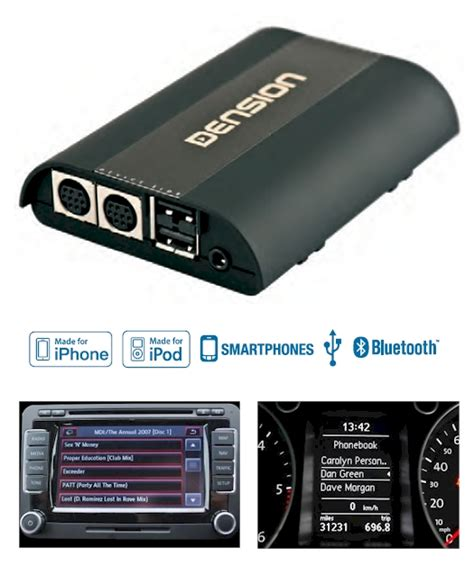 Dension Pro Bt Manos Libres Bluetooth Con Interface Ipod