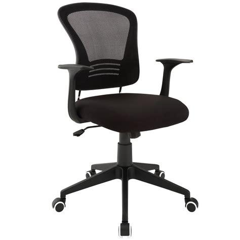 poise modern ergonomic mesh  office chair  lumbar support black