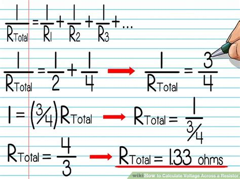 voltage across a resistor in series calculator how to calculate voltage across a resistor with pictures