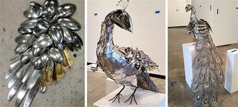 metal peacock   spoons   metal