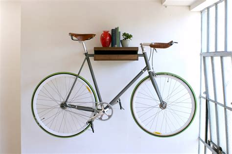 Bike Wall Shelf by Future Apartment Stuff Fernandopinodesign