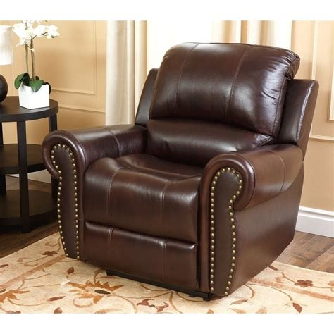Abbyson Living Hogan Leather Reclining 2 Piece Sofa Set Leather Reclining Sofa Sets