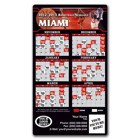 miami heat basketball team schedule magnets 4 quot x 7