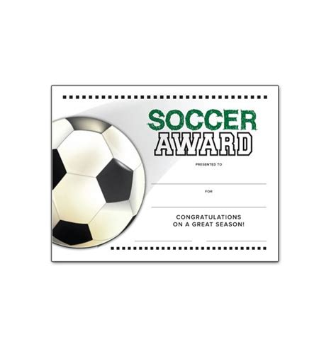 soccer awards certificate template printable soccer award