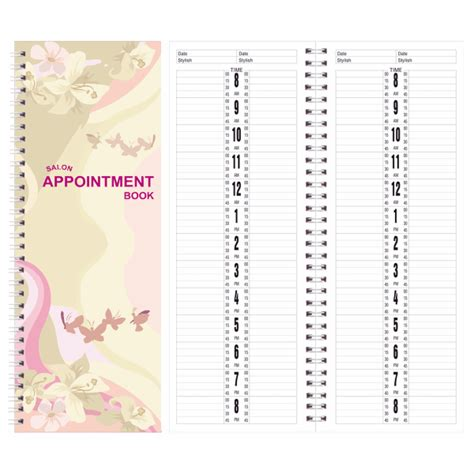 berkeley beauty company salon appointment book 2 column