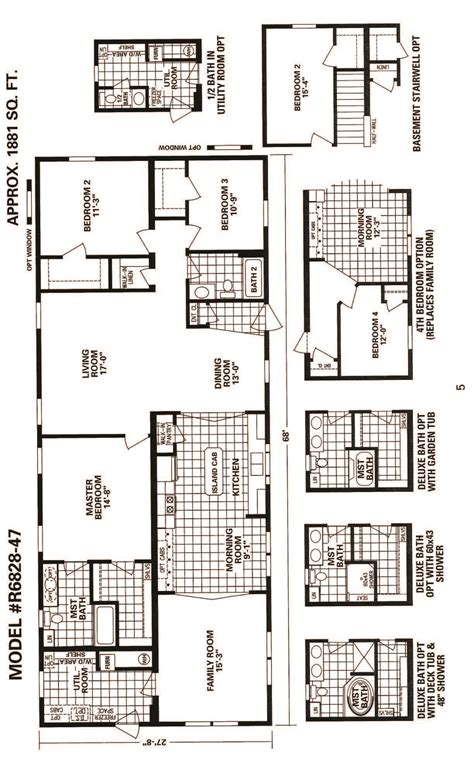 main street homes floor plans schult main street 6828 47 floor plan excelsior homes