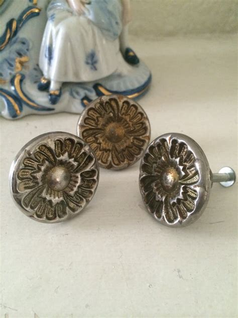mid century cabinet knobs three vintage mid century door knobs deco by