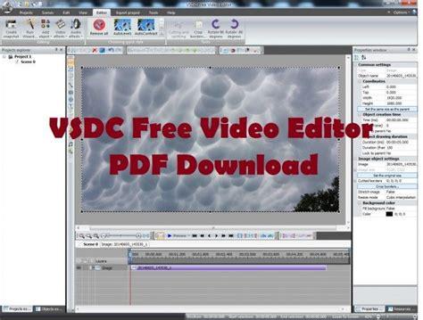 tutorial video editing pdf vsdc free video editor pdf download vsdc tutorials