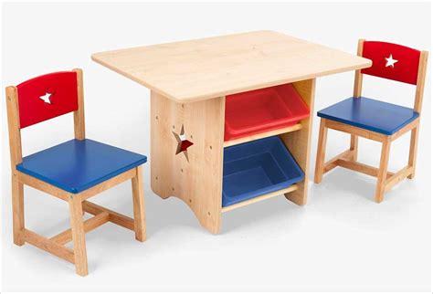 table de rangement ronde et blanche kidkraft 2 chaises