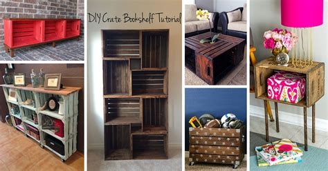 diy wood crate projects  ideas