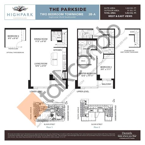 Daniels High Park Floor Plans | daniels high park floor plans thefloors co