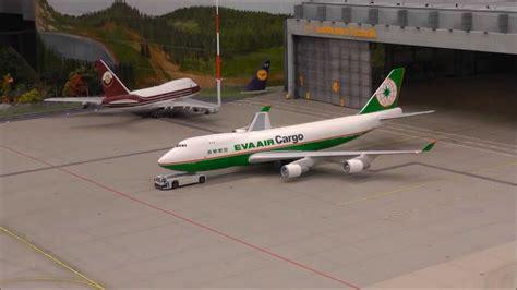 ho scale 1 87 boeing 747 400f air cargo knuffingen airport hamburg 14 1 14