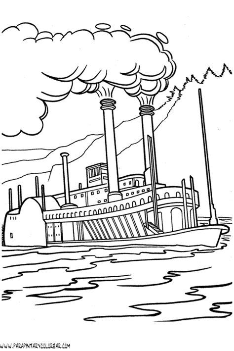 tipos de barcos para colorear barco a vapor dibujo imagui