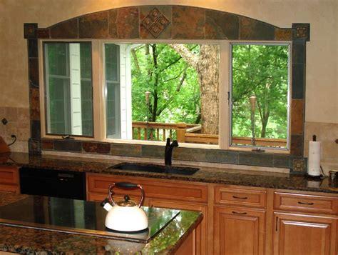 backsplash around window tile wrapped around windows images slate window tile and