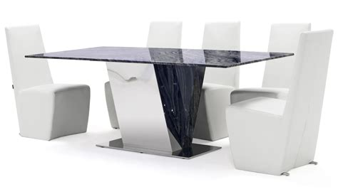 black and white marble polished stainless steel malbec malbec black and grey marble dining table with polished stainless steel base zuri furniture