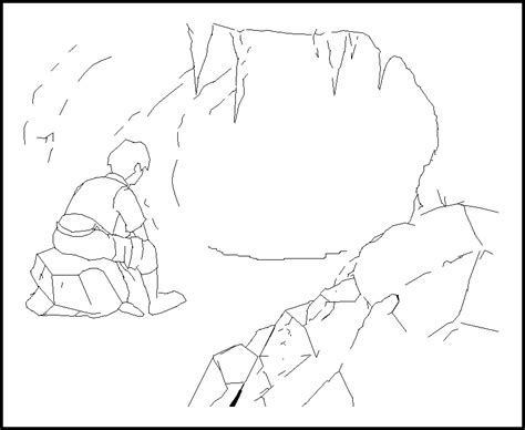 coloring pages of a bear cave bear cave coloring page