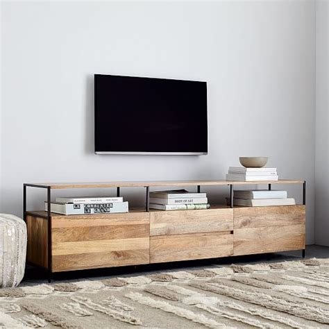 west elm media cabinet industrial storage media console 80 quot west elm