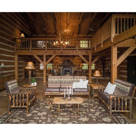 rustic living room chairs rustic hickory log faux leather living room chair