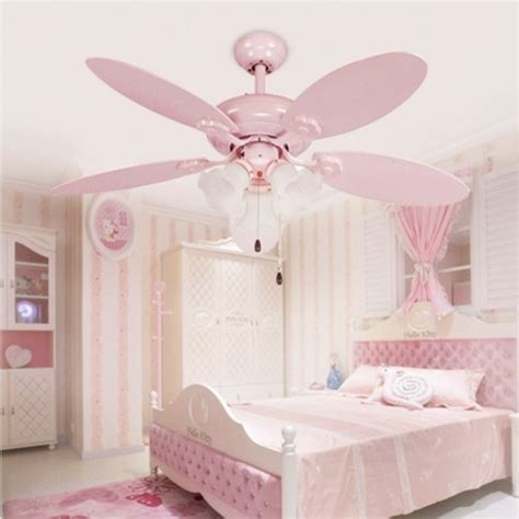 ceiling fans for girl bedroom cute pink girls ceiling fan lights european style modern