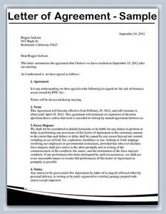 how to write a letter of agreement sles