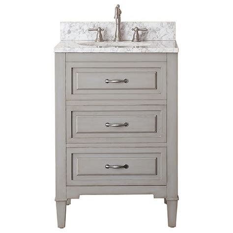 Bathroom Vanity With Top Combo Avanity Grayish Blue 24 Inch Vanity Combo With White Marble Top Vanities Vanity