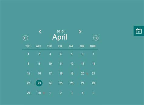 26 Html Calendar Templates Html Psd Css Free Premium Templates Calendar Template Html Css