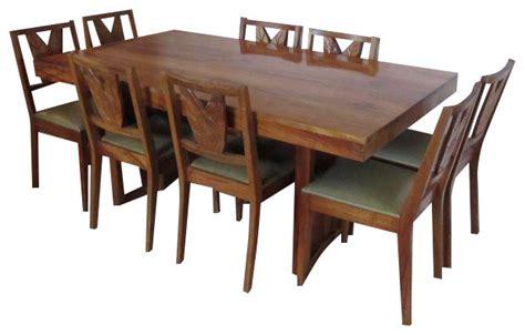 beautiful koa wood dining set table 8 chairs