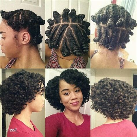 Show Me Some Flat Twist Style On Natural Black Hair | flat twist with bantu knot out natural curly hair