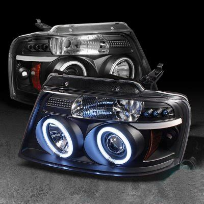 ford f150 2004 2008 black dual ccfl halo projector