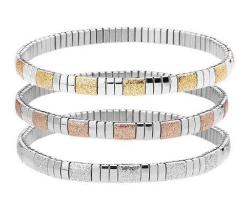 stainless steel set of 3 stretch glitter ankle bracelets