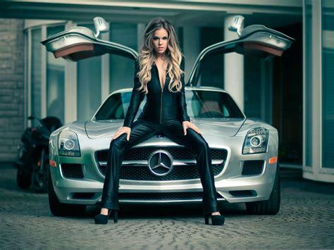 wallpaper girl with car mercedes sls car and girl 4k iphone wallpaper 4k cars