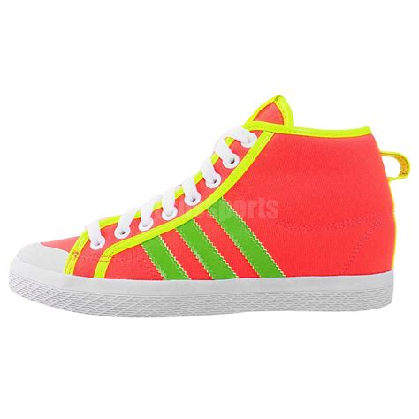 adidas originals honey stripes up w pink green womens wedges casual shoes d66040 ebay