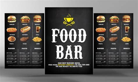 23 menu flyer templates free psd ai eps vector