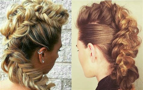 hairstyles braids cool expressive women braided mohawk hairstyles hairdrome com