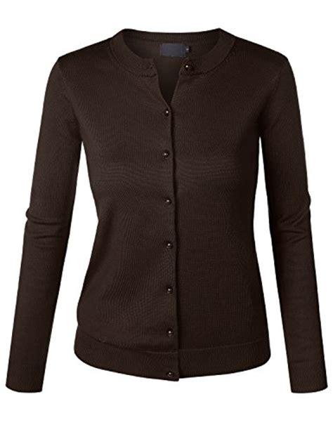 Cardigan Soft Brown biadani button sleeve soft knit cardigan sweater junior fit brown x large