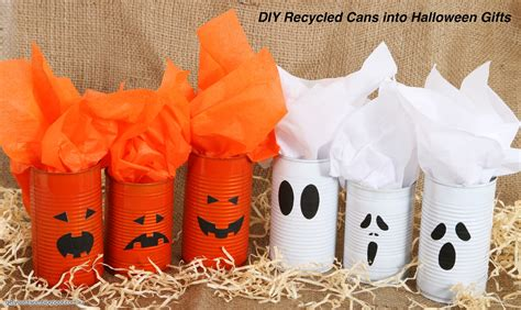 get your d i y on d i y recycle cans into halloween gifts