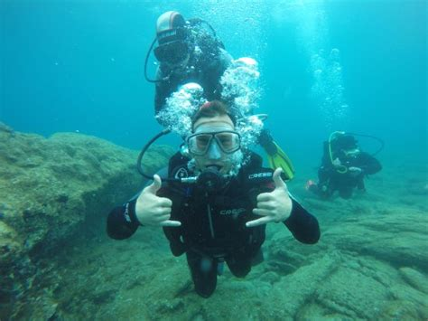 Senter Underwater In With Diving Picture Of Stay Diving Center Agia Pelagia Tripadvisor