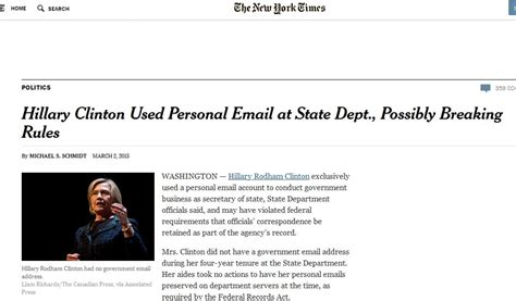 hillary clinton mailing address hillary clinton s use of private email while secretary of
