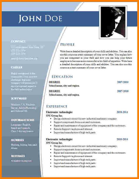 cv format word en ligne model de cv gratuit format word modele cv simple gratuit