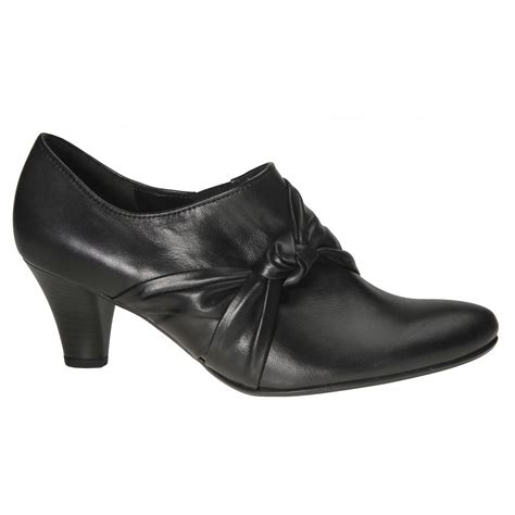 gabor comfort range gabor shoes high cut trouser shoe in black mozimo