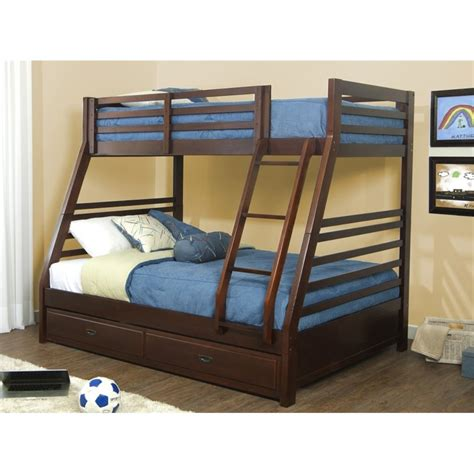 bunk bed box spring hillsdale bailey twin over full bunk bed with trundle in