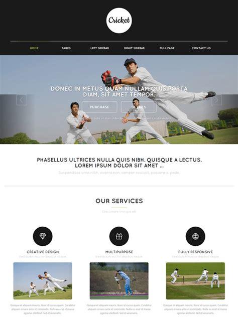 Cricket Web Template Cricket Website Templates Dreamtemplate Cricket Website Templates Free