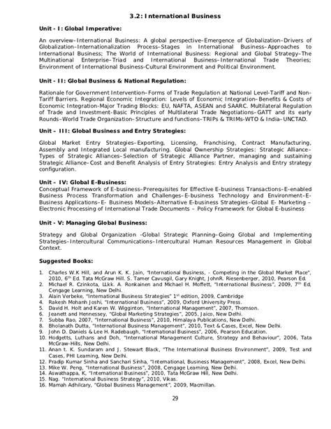 Mba In Economics Syllabus by Mba Syllabus 2010 3