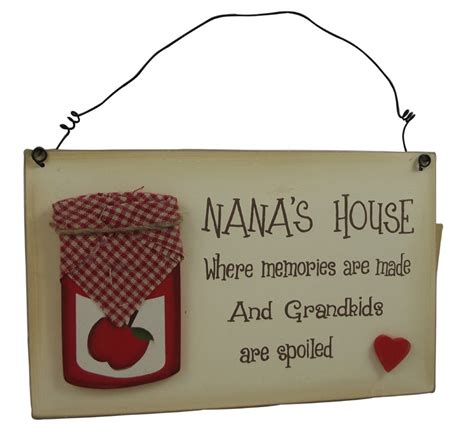 nana s house plaque gift idea for nana birthday
