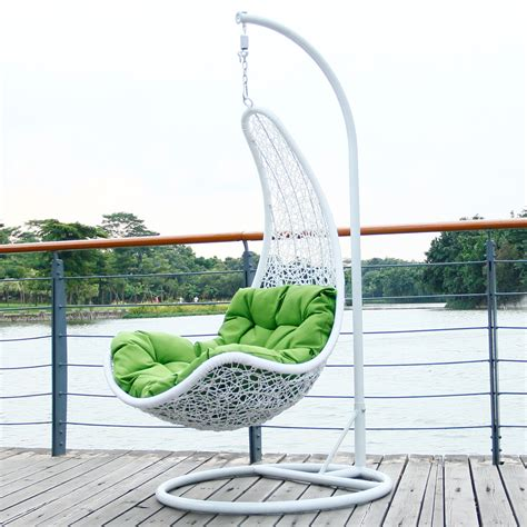 swing for balcony outdoor wicker swing chair home decorating ideas